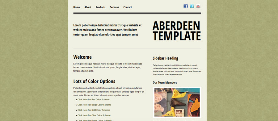 Aberdeen Website Template