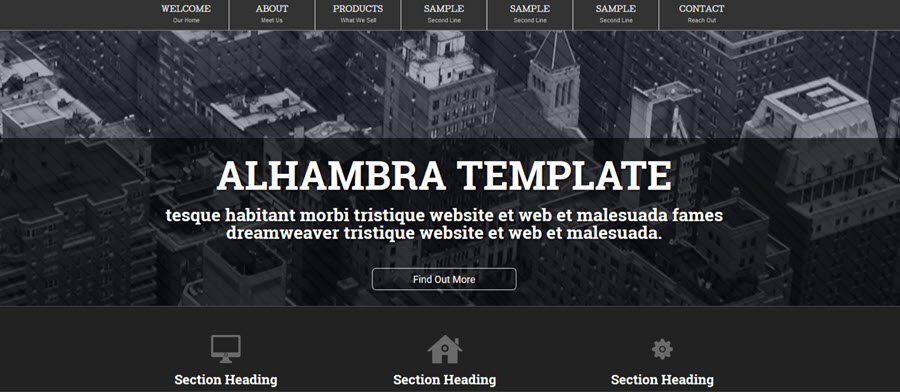 Alhambra Website Template