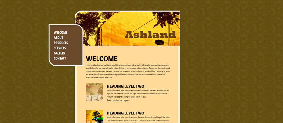 Web Template - Ashland