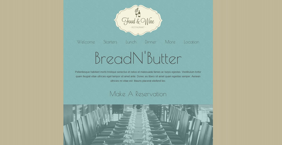 BreadN'Butter - Web Template