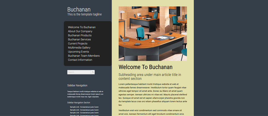 Web Template - Buchanan