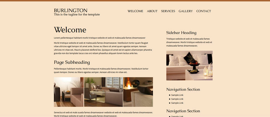 Web Template - Burlington
