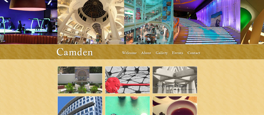Web Template - Camden - Expression Web