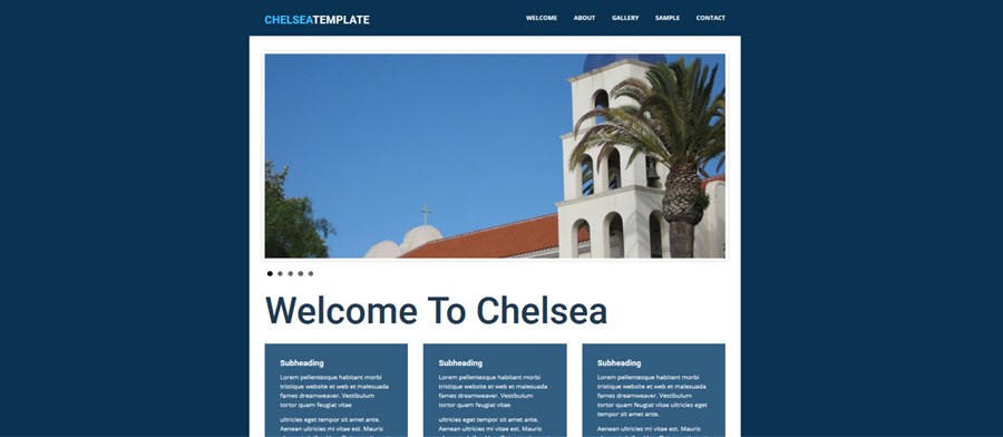 Web Template - Chelsea