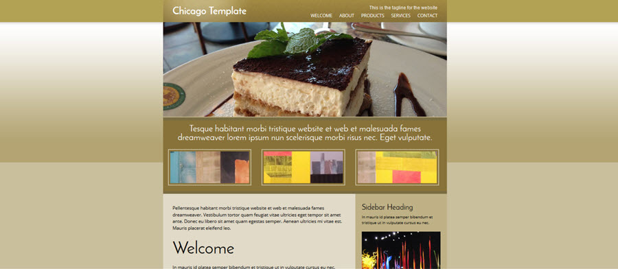 Web Template - Chicago - Dreamweaver
