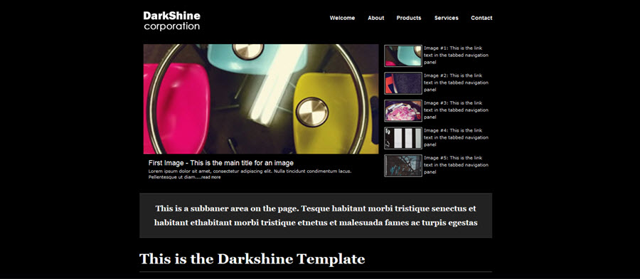 Web Template - Darkshine