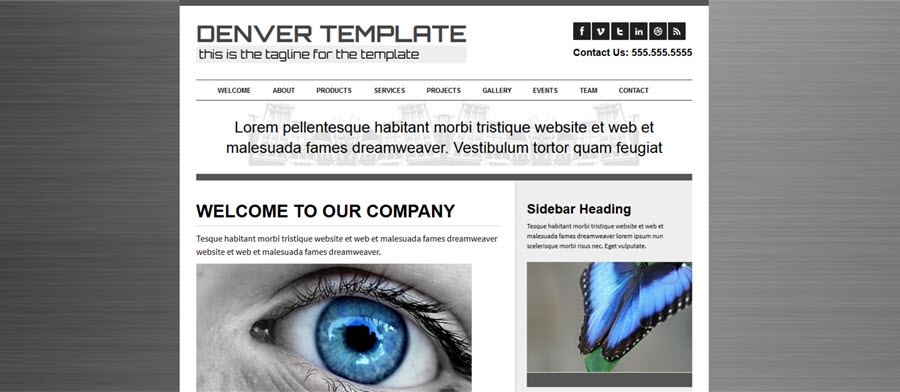 Web Template - Denver