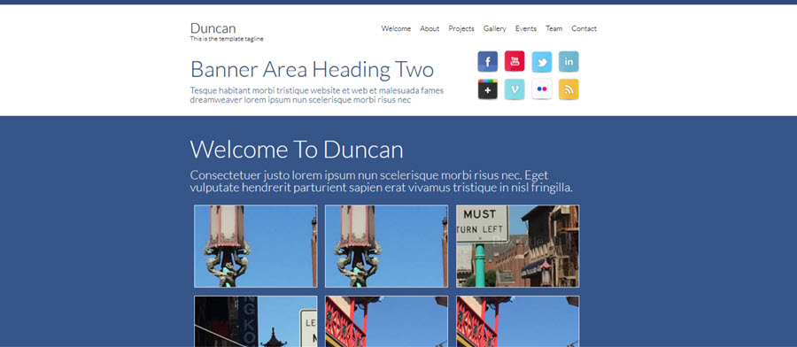 Duncan Website Template
