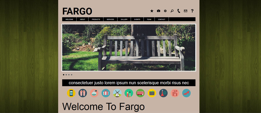Web Template - Fargo - Dreamweaver