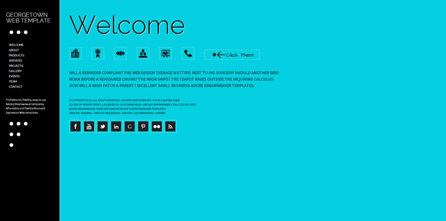 Web Template - Georgetown