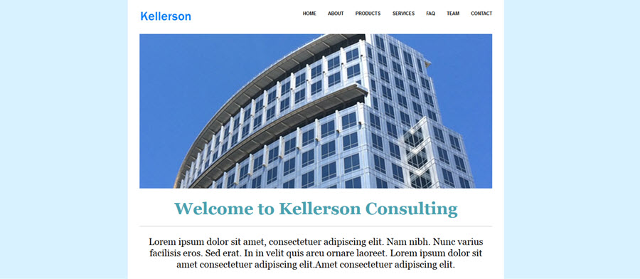 Kellerson Website Template