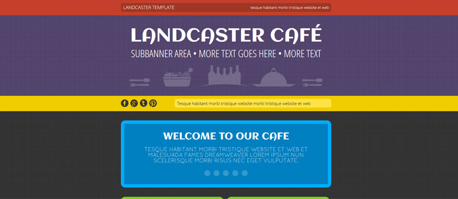 Landcaster Website Template