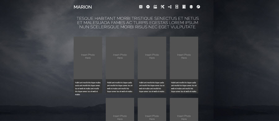 Web Template - Marion