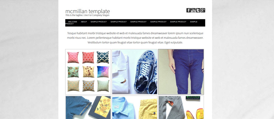 McMillan Website Template