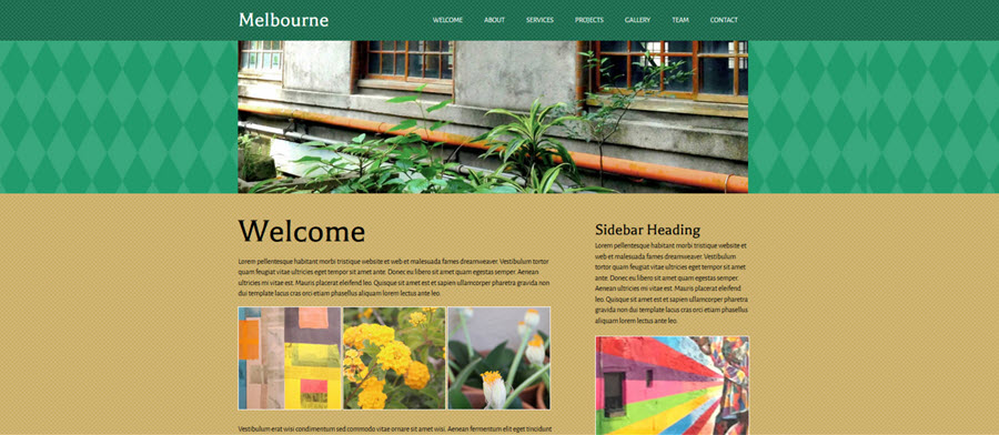 Web Template - Melbourne