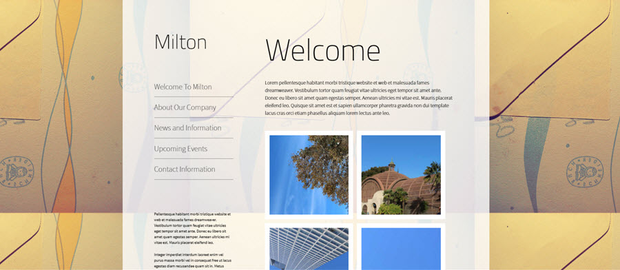 Milton Website Template