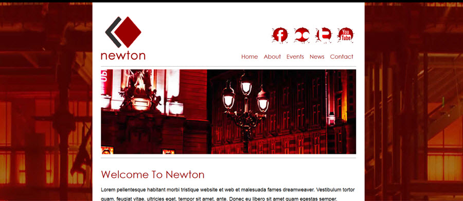 Web Template - Newton
