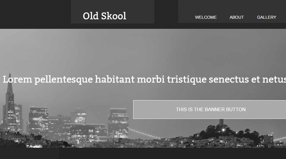 Old Skool - Web Template