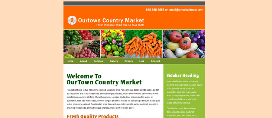 Web Template - Ourtown