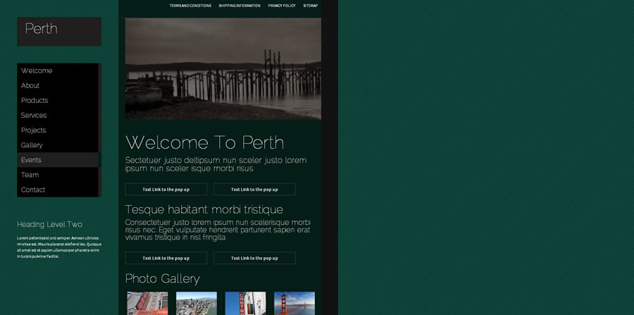 Web Template - Perth