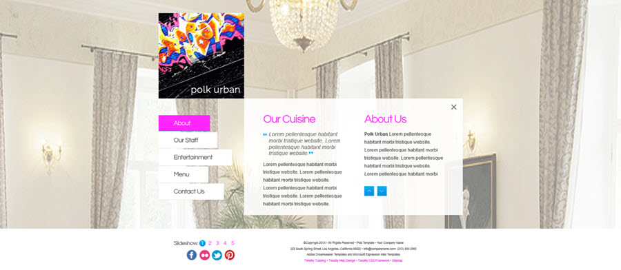 Web Template - Polk - Dreamweaver