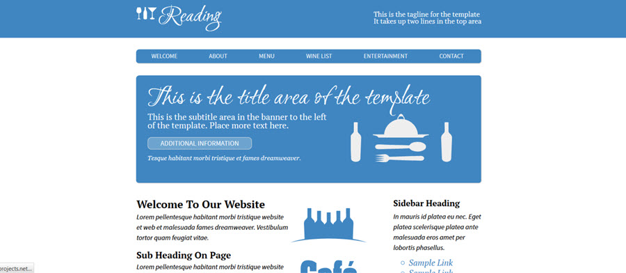 Web Template - Reading