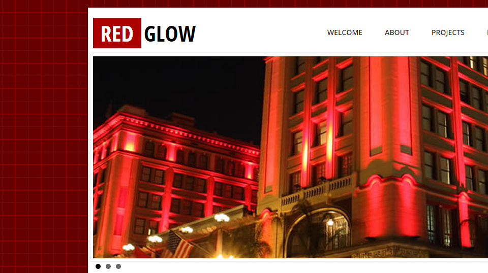 Red Glow - Web Template