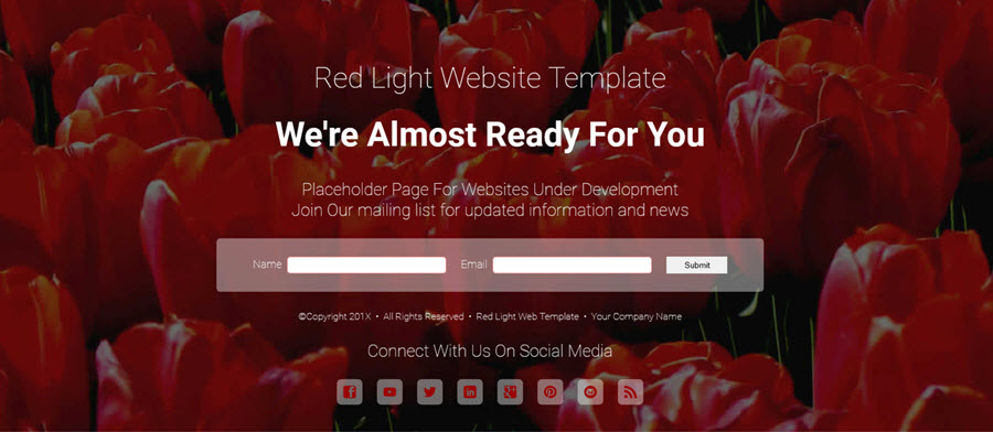 Red Light - Web Template