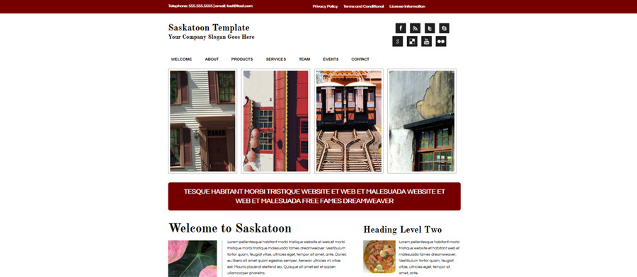 Web Template - Saskatoon - Expression Web