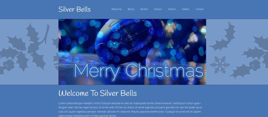 Silver Bells - Professional Web Template