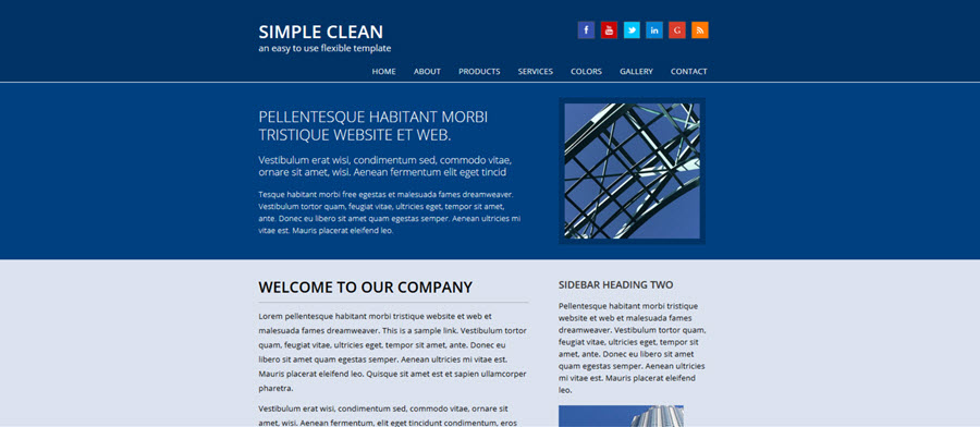 Simple Clean Website Template
