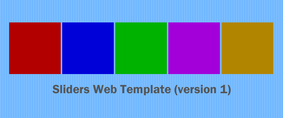 Sliders v1 - Web Template