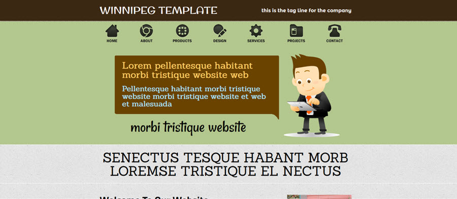 Web Template - Winnipeg