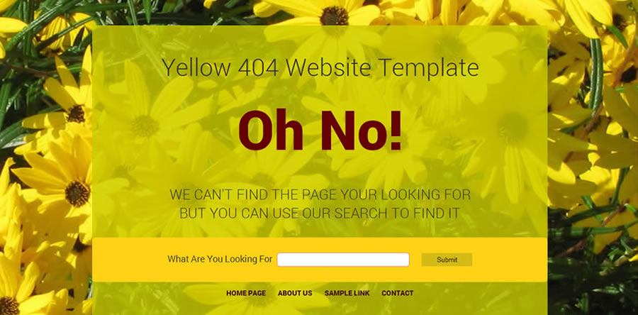 yellow lemons 404 page - Web Template